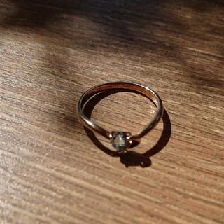 ブルーム(BLOOM)のBLOOMアクアマリンのゴールドの指輪(リング(指輪))
