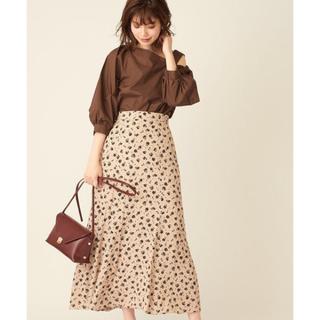 ナチュラルクチュール(natural couture)の完売品!ドット花柄マーメイドスカート(ロングスカート)