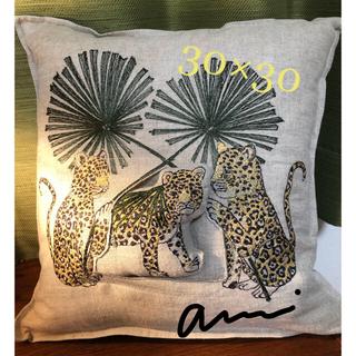 アッシュペーフランス(H.P.FRANCE)のコーラルアンドタスク Jaguar Palm Pocket Pillow(クッション)