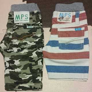 エムピーエス(MPS)のMPSハーフパンツ(2枚セット)(パンツ/スパッツ)