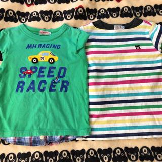 ダブルビー(DOUBLE.B)のミキハウス ダブルB 長袖Tシャツ 2枚セット 110 男の子(Tシャツ/カットソー)