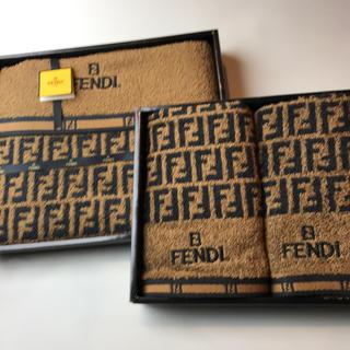 フェンディ(FENDI)のフェンディ バスタオル&ハンドタオル2枚(タオル/バス用品)