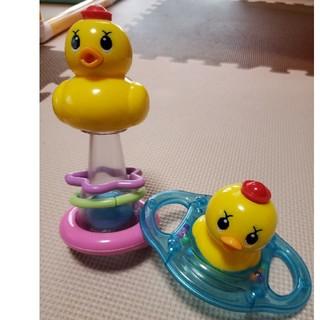 パイロット(PILOT)のtom様専用!アヒル隊長☆お風呂おもちゃ2点セット(お風呂のおもちゃ)