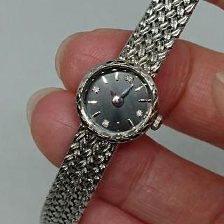 アガット(agete)のagete 小ぶりでかわいい ブラックフェイスシルバーウォッチ(腕時計)