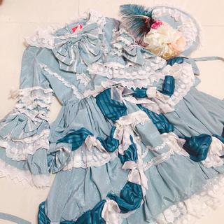 ベイビーザスターズシャインブライト(BABY,THE STARS SHINE BRIGHT)の新品☆BABY アンリエッタ姫の舞踏会ワンピース ドレス + キャノティエ(ロングドレス)