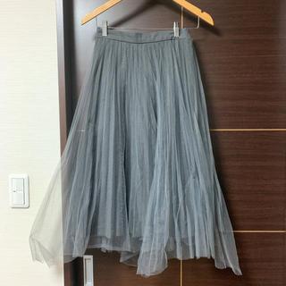 フレイアイディー(FRAY I.D)のフレイアイディー   プリーツスカート ロングスカート チュールスカート(ロングスカート)