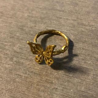 ピンキーリング 蝶々 バタフライ アンティーク(リング(指輪))