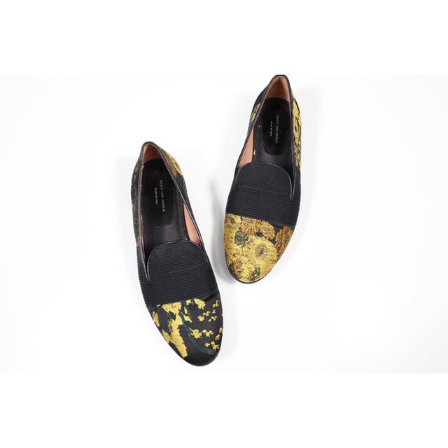 DRIES VAN NOTEN(ドリスヴァンノッテン)の美品 Dries Van Noten 18SS ジャガード フラット シューズ レディースの靴/シューズ(ハイヒール/パンプス)の商品写真