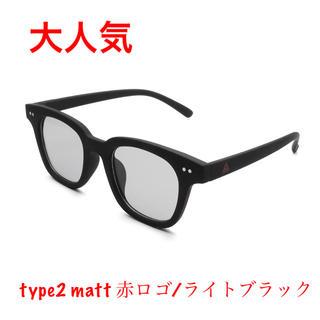 Supreme - サンカク サングラス type2  matt  赤ロゴ/ライトブラック
