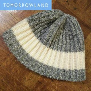 トゥモローランド(TOMORROWLAND)の美品 トゥモローランド✨バーンストック・スピアーズ ウール ニット帽 ビーニー(ニット帽/ビーニー)