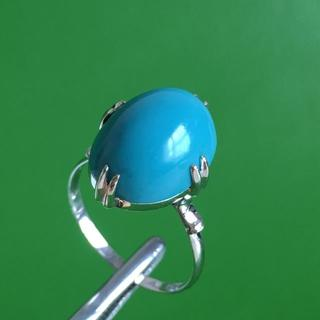 K14WG ホワイトゴールド カラーストーン リング 17号 指輪(リング(指輪))