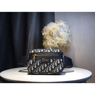 ディオール(Dior)のディオー   ル  ブラック 男女兼用 ボディーバッグ 人気(ウエストポーチ)