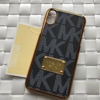 マイケルコース(Michael Kors)の箱なし iPhoneX XS ブラック ハードケース モノグラム 金縁(iPhoneケース)