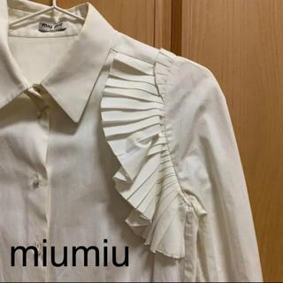 ミュウミュウ(miumiu)のmiumiu  ブラウス  (再値下げ)(シャツ/ブラウス(長袖/七分))