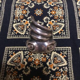 デザインリング カタツムリ シルバー 925刻印有り(リング(指輪))