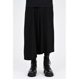 LAD MUSICIAN - LAD FLARE CROPPED ASYMMETRY PANTS