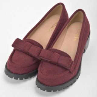 ティティアンドコー(titty&co)の♡titty&Co. リボンローファー ブラウン ボルドー パンプス♡(ローファー/革靴)