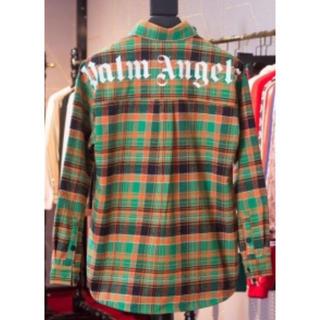 バレンシアガ(Balenciaga)の【PALM ANGELES】19SS バッグロゴチェックシャツ イエローグリーン(シャツ)