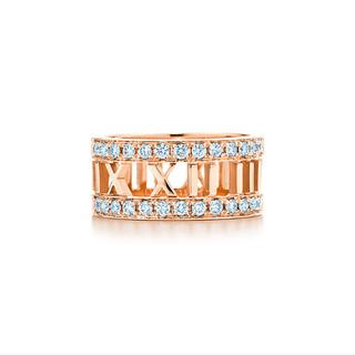 ティファニー(Tiffany & Co.)のK18PG ティファニー アトラス オープンリング  ハーフダイヤ 13号(リング(指輪))