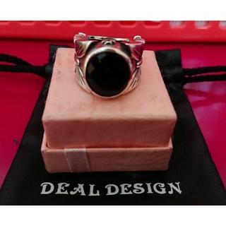 ディールデザイン(DEAL DESIGN)の値下◆ ディールデザイン ブラックオニキス バタフライリング(リング(指輪))