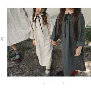 韓国こども服リネンロングワンピース新品110(ワンピース)