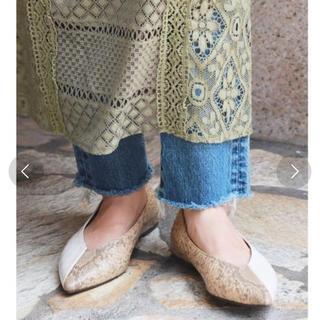 アングリッド(Ungrid)のコンビフラットシューズ Lサイズ ungrid 皮革製(ローファー/革靴)