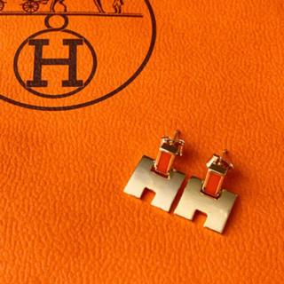 エルメス(Hermes)のH モチーフ ピアス ゴールド(ピアス)