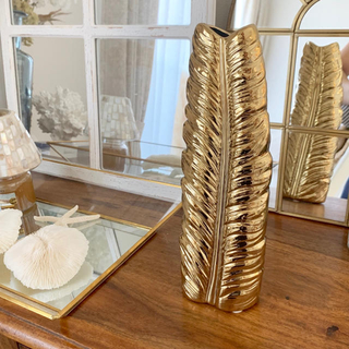 ザラホーム(ZARA HOME)の海外より フェザーフラワーベース 花瓶 一輪挿し ドライフラワー 生け花(花瓶)