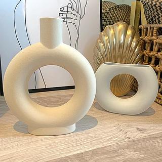 フランフラン(Francfranc)の海外より  テラコッタ花瓶 ドライフラワー 一輪挿し フラワーベース(花瓶)