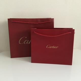 カルティエ(Cartier)のカルティエ ショップ袋 2枚セット(ショップ袋)