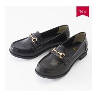 シマムラ(しまむら)の新品 Sサイズ 黒 ローファー プチプラのあや(ローファー/革靴)