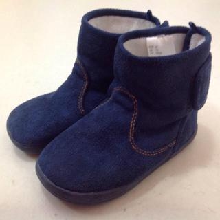 ムジルシリョウヒン(MUJI (無印良品))のH&M ネイビー ブーツ 15㎝ シンプル 無印良品(ブーツ)