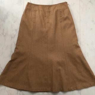 ジェイプレスレディス(J.PRESS LADIES)のジェイプレス ニューヨーク ベージュ ボトムフレア スカート サイズS(ひざ丈スカート)