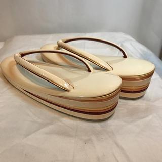 [美品] 最高級  エナメル本革 草履 老舗やまと製