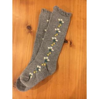 エフオーキッズ(F.O.KIDS)のアプレレクール  お花ラインハイソックス(靴下/タイツ)