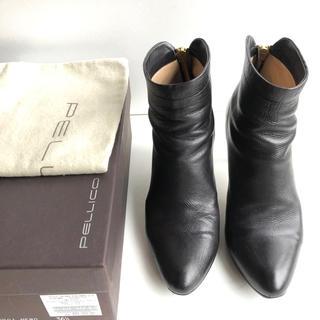 ペリーコ(PELLICO)の36.5 PELLICO ペリーコ  ショートブーツ TAXI 黒 23.5(ブーツ)