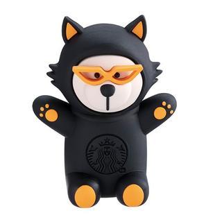 スターバックスコーヒー(Starbucks Coffee)のスターバックス:マグネット ベアリスタ 台湾 海外 黒猫 ハロウィン限定(収納/キッチン雑貨)