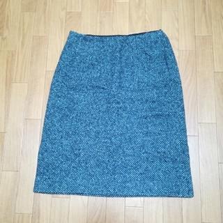ローラアシュレイ(LAURA ASHLEY)のタイトスカート グレー ツイード(ひざ丈スカート)