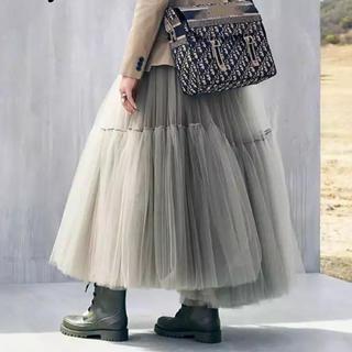 フレイアイディー(FRAY I.D)のボリュームチュールスカート  2色(ロングスカート)