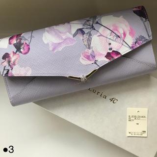 ヨンドシー(4℃)のルリア4°c 財布 新品 長財布 ブランド 花柄 二つ折り レディース レター型(財布)