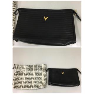 マリオバレンチノ(MARIO VALENTINO)のマリオバレンチノ VALENTINO セカンドバッグ ハンドバッグ ブラック V(セカンドバッグ/クラッチバッグ)
