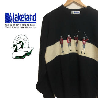 シップス(SHIPS)の【Lakeland】 90s/レイクランド/ゴルフ柄/ニット/セーター/ 柄(ニット/セーター)