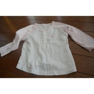 コムサイズム(COMME CA ISM)の同梱値引★80cm  コムサ 長袖 白 ピンク(シャツ/カットソー)