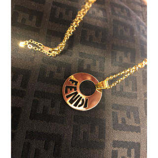 フェンディ(FENDI)の新品未使用 正規品 フェンディ バッグチャーム トップ ネックレス ゴールド(ネックレス)