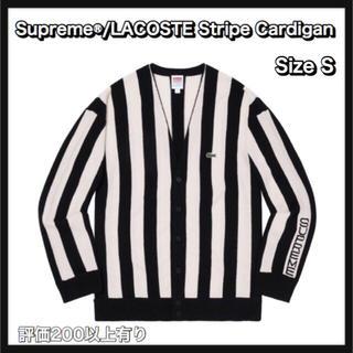 シュプリーム(Supreme)の【S】Supreme®/LACOSTE Stripe Cardigan(カーディガン)