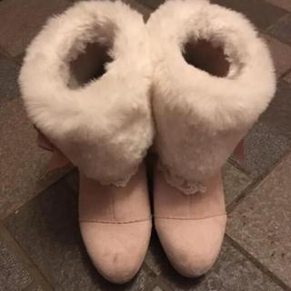 リズリサ(LIZ LISA)のストロベリーブーケ ショートブーツ(ブーツ)