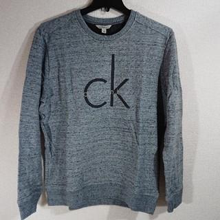 カルバンクライン(Calvin Klein)の【M】カルバン クライン/メンズ CK ロゴプリントトレーナー/グレー(スウェット)