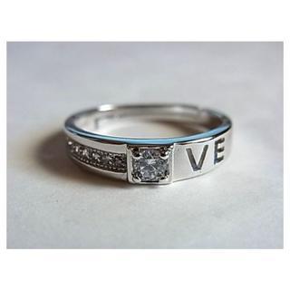 新品難SVシルバー925リング指輪14.5号キュービックジルコニア人工ダイヤCZ(リング(指輪))