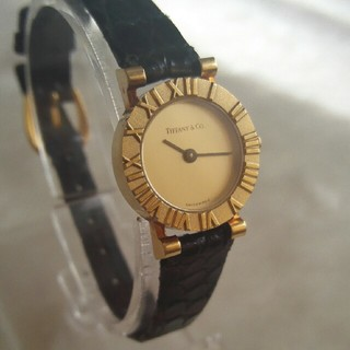 ティファニー(Tiffany & Co.)のりりあ様専用  ティファニー アトラス腕時計 18K純正替ベルト付 レディース(腕時計)