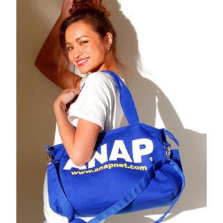 アナップ(ANAP)の新品 ANAP☆ロゴ 2WAY ショルダーバッグ 青 マザーズバッグ アナップ(マザーズバッグ)